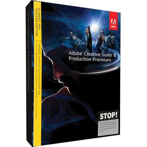 Adobe Creative Suite 6 Production Premium Student & Teacher Edition for Windows (Download)
