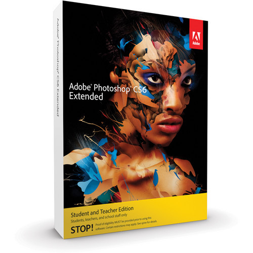 Adobe Photoshop Extended CS6 Student & Teacher Edition for Windows (Download)