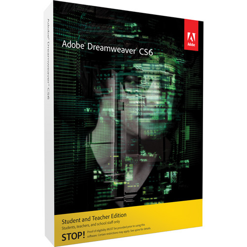 Adobe Dreamweaver CS6 Student & Teacher Edition for Mac (Download)