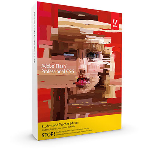 Adobe Flash Professional CS6 Student & Teacher Edition for Windows (Download)