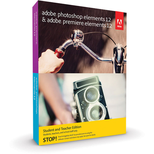 Adobe Photoshop Elements 12 & Premiere Elements 12 for Mac and Windows (Student & Teacher Edition, DVD)