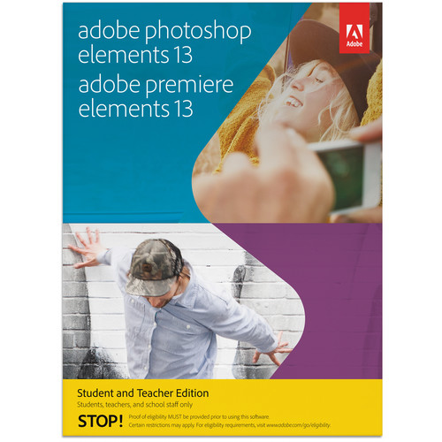 Adobe Photoshop Elements 13 & Premiere Elements 13 for Mac and Windows (Student & Teacher Edition, Download)