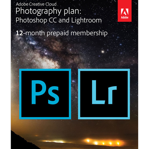 Adobe Creative Cloud Photography Plan (12 Month Subscription, Download)