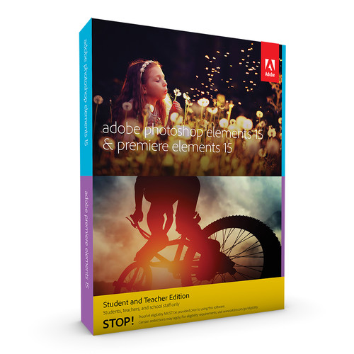 Adobe Photoshop Elements 15 and Premiere Elements 15 (Download, Student & Teacher Edition)