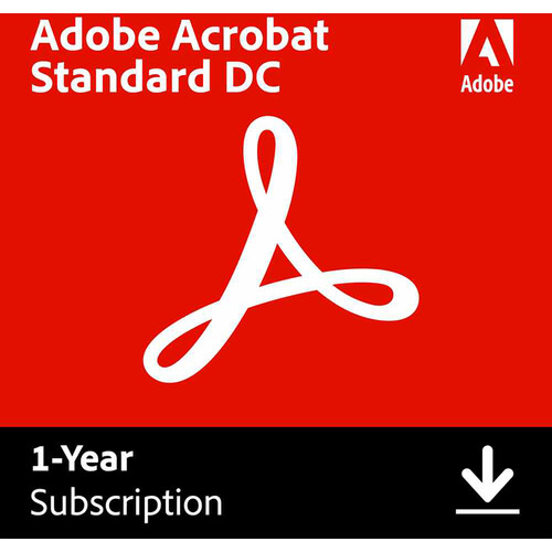 Adobe Acrobat Standard DC (Download, 1-Year Subscription)