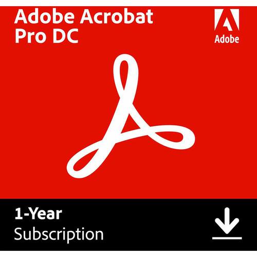 Adobe Acrobat Pro DC (Download, 1-Year Subscription)