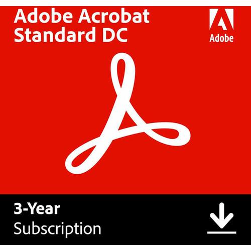 Adobe Acrobat Standard DC (Download, 3-Year Subscription)