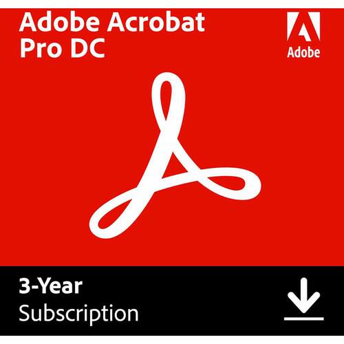 Adobe Acrobat Pro DC (Download, 3-Year Subscription)