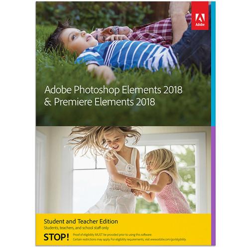 Adobe Photoshop Elements & Premiere Elements 2018 (Mac, Academic, Download)