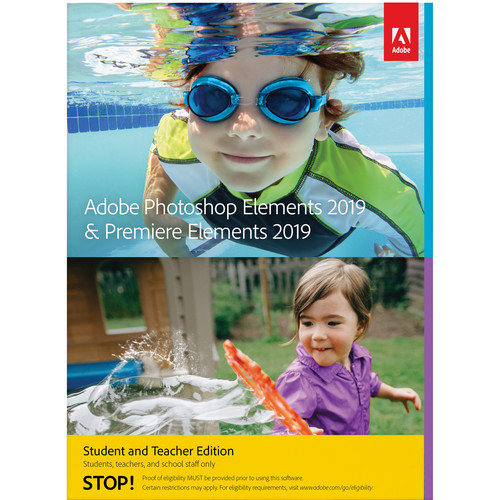 Adobe Photoshop Elements 2019 & Premiere Elements 2019 (Download, Mac, Student & Teacher Edition)