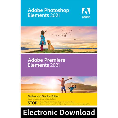 Adobe Photoshop Elements & Premiere Elements 2021 (Download, Mac, Student & Teacher Edition)