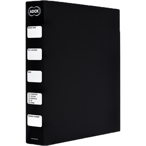 Adox Adofile Archival Ring Storage Binder (Black)
