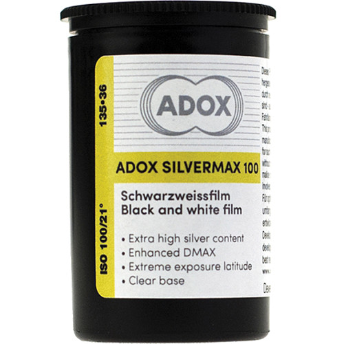 Adox Silvermax 100 Black and White Film (35mm Roll Film, 36 Exposures)
