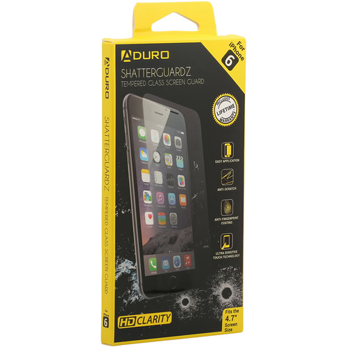 Aduro SHATTERGUARDZ Tempered Glass Screen Protector for iPhone 6/6s