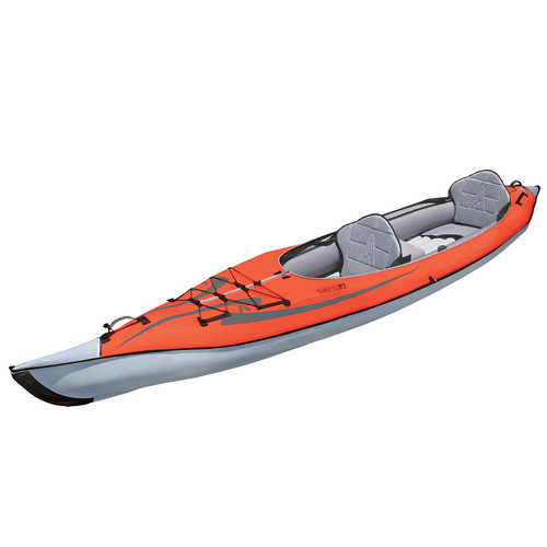 Advanced Elements AdvancedFrame Convertible Inflatable Kayak (Red)