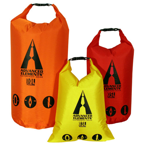 Advanced Elements PackLite Roll Top Dry Bag Set (3, 5 & 10L)