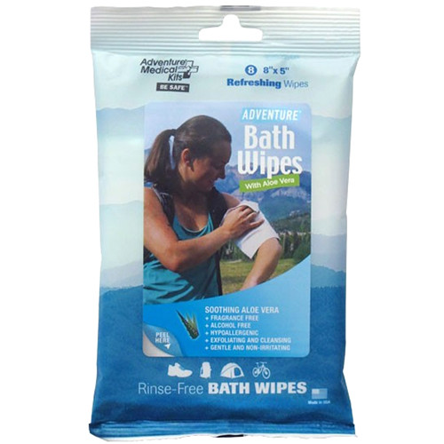 "Adventure Medical Kits Adventure Bath Wipes (Travel Size, 8 x 5"", 8-Pack)"