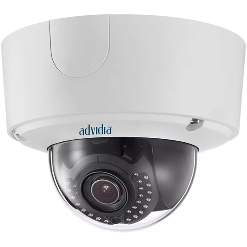 Advidia 6MP Vandal-Resistant Outdoor Network Dome Camera with 2.8 to 9mm Varifocal Lens & Night Vision