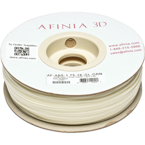 Afinia Value-Line ABS Filament for Afinia 3D Printers (Glow-in-the-Dark Green, 1.75mm)