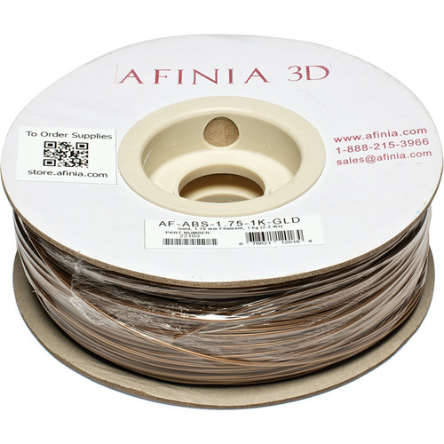 Afinia Value-Line ABS Filament for Afinia 3D Printers (Gold, 1.75mm)