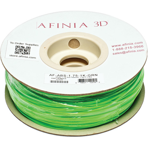Afinia Value-Line ABS Filament for Afinia 3D Printers (Green, 1.75mm)