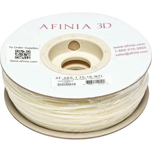 Afinia Value-Line ABS Filament for Afinia 3D Printers (Natural, 1.75mm)