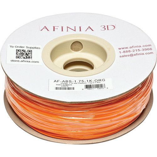 Afinia Value-Line ABS Filament for Afinia 3D Printers (Orange, 1.75mm)