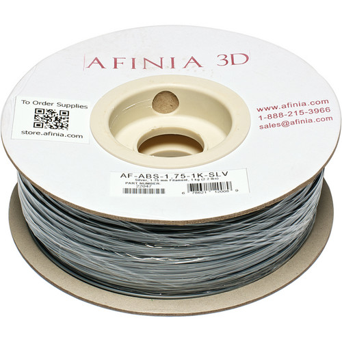 Afinia Value-Line ABS Filament for Afinia 3D Printers (Silver, 1.75mm)