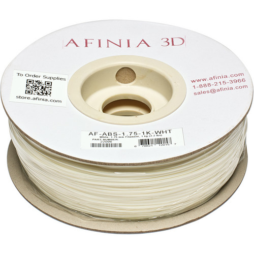 Afinia Value-Line ABS Filament for Afinia 3D Printers (White, 1.75mm)