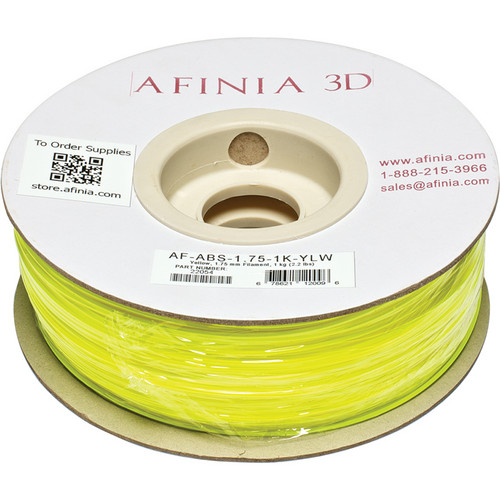 Afinia Value-Line ABS Filament for Afinia 3D Printers (Yellow, 1.75mm)