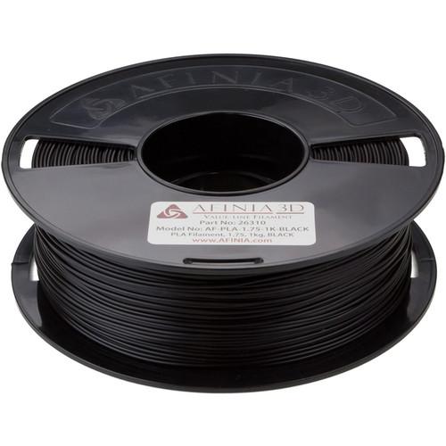 Afinia 1.75mm Value-Line PLA Filament for H-Series 3D Printers (2.2 lb, Black)