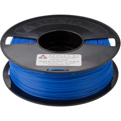 Afinia 1.75mm Value-Line PLA Filament for H-Series 3D Printers (2.2 lb, Blue)
