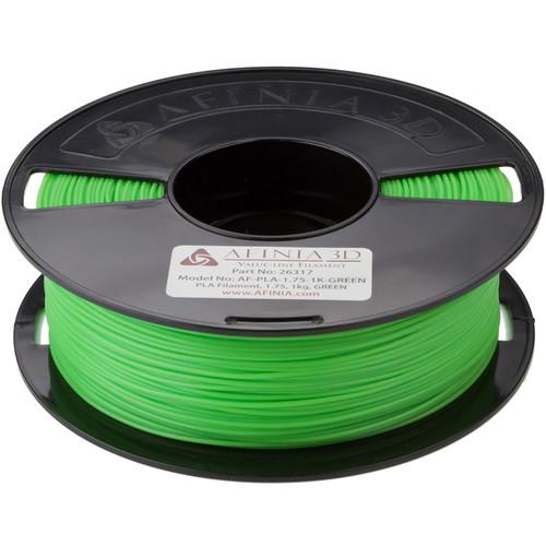 Afinia 1.75mm Value-Line PLA Filament for H-Series 3D Printers (2.2 lb, Green)