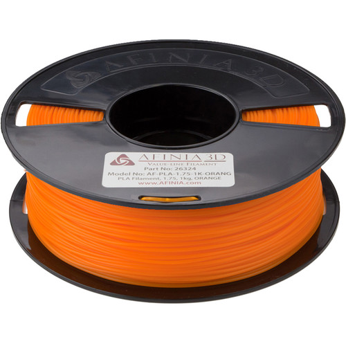 Afinia 1.75mm Value-Line PLA Filament for H-Series 3D Printers (2.2 lb, Orange)