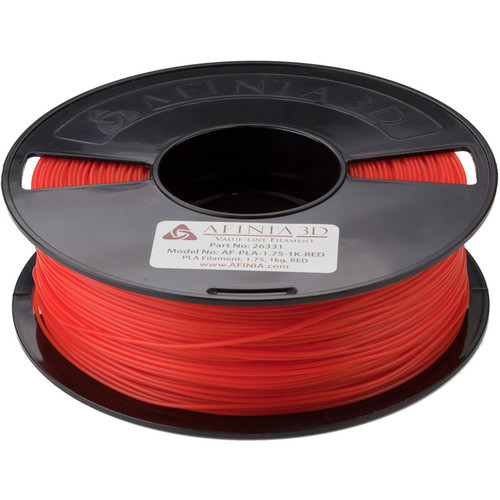 Afinia 1.75mm Value-Line PLA Filament for H-Series 3D Printers (2.2 lb, Red)