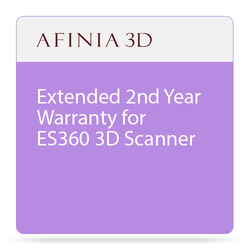 Afinia Extended 2nd Year Warranty for ES360 3D Scanner