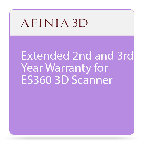 Afinia Extended 2nd and 3rd Year Warranty for ES360 3D Scanner