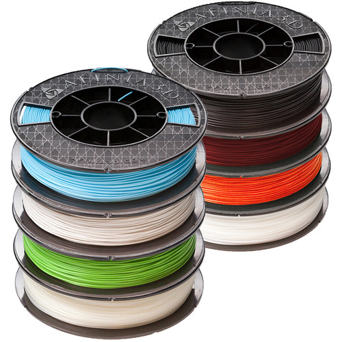 Afinia Premium 1.75mm PLA Filament Bundle (500g, 8-Pack)