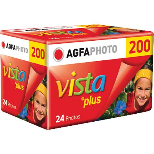 AgfaPhoto Vista plus 200 Color Negative Film (35mm Roll Film, 24 Exposures)