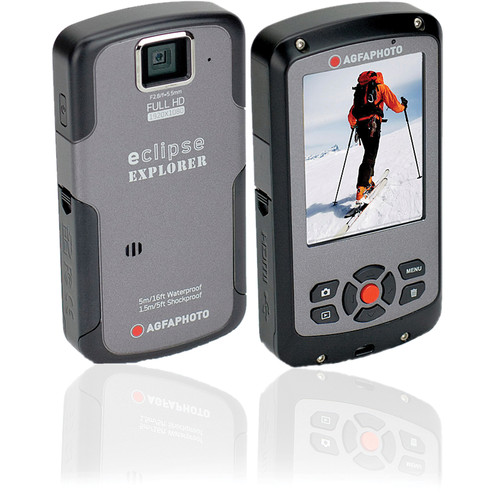 AgfaPhoto eClipse EXPLORER 1080p Camcorder (Gray)