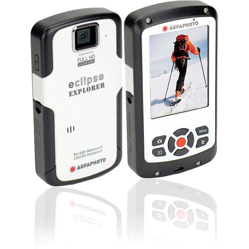 AgfaPhoto eClipse EXPLORER 1080p Camcorder (White)