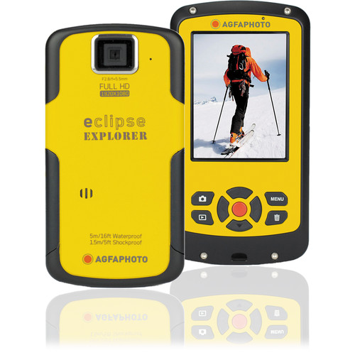 AgfaPhoto eClipse EXPLORER 1080p Camcorder (Yellow)