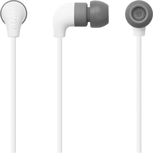 AIAIAI Pipe Earphones for iOS/Android/Windows with 1-Button Microphone Remote (White)