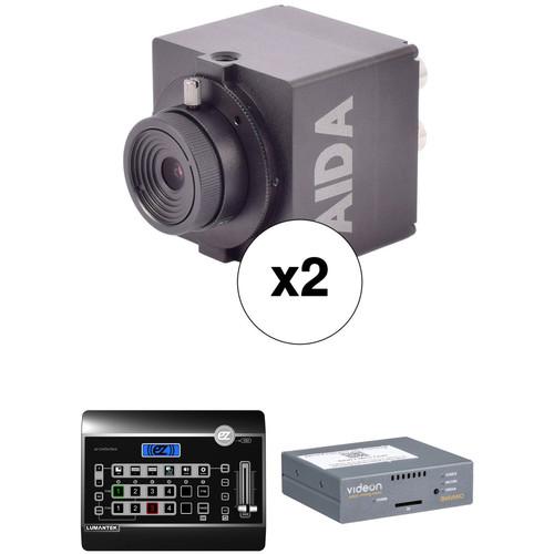 AIDA Imaging 2-Camera, Lumantek Switcher, and Shavano Encoder/Decoder Workflow Bundle