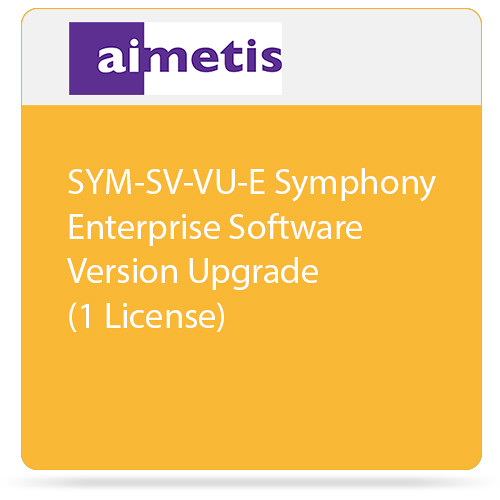 aimetis SYM-SV-VU-E Symphony Enterprise Software Version Upgrade (1 License)