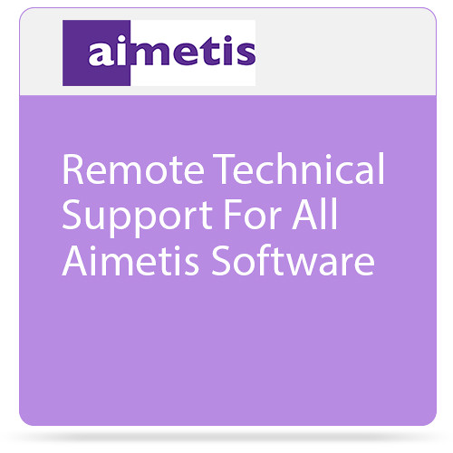aimetis Remote Technical Support for All Aimetis Software