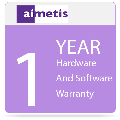 aimetis 1-Year Hardware and Software Warranty