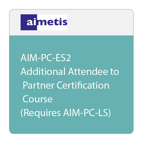 aimetis AIM-PC-ES2 Additional Attendee for Certified Partner Training (Requires AIM-PC-LS)
