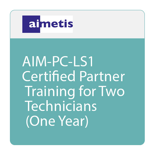 aimetis AIM-PC-LS1 Certified Partner Training for Two Technicians (One Year)