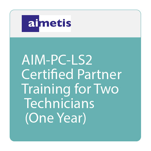 aimetis AIM-PC-LS2 Certified Partner Training for Two Technicians (One Year)